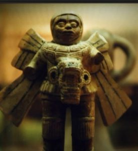 Maya area statue carved into boulder Olmec Nibiran or other Et
