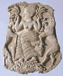 Sud aka Ninti was Enlil Yahweh's wife here with babe maybe Nannar