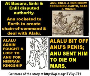1AA A Drawing and Anu defeats Alalu on Earth