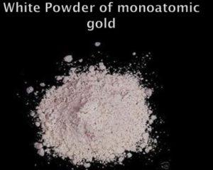 Gold powder w label