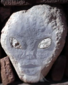 Head of a Grey at Pumapunku from Childress, 2012, Ancient Aliens, Season 4, Disk 2