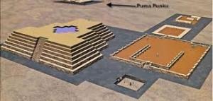 Pumapunka Tiahuanco Bolivia, landing platform and heads of Earthlings, Conehead ETs and Greys