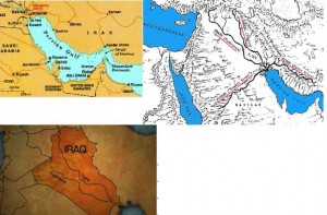 Iraq's 4 rivers, including 2 now gone but shown in soundings