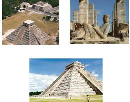 In Mexico, Ningishzidda, Sumerian overseers, Olmec foremen and Indian laborers built Teotihuacan. In Yucatan, they built (at Dzibilchaltun, Palenque, Tikal, Uxmal, Izamal, Mayapan, Chichen Iza, Copan, Tolan and Izapa) huge stepped-stone temples like Sumer's.
