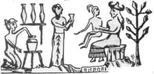 Ningishzidda, Enki and Ninmah with Adam, the 300,000 years ago, first breeding model for the adapted Nibiran mine slaves.