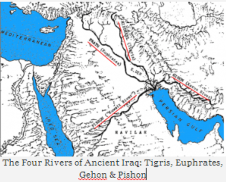 OBSERVATIONS OF ANCIENT IRAQ RIVERS PROVE PREDELUGE ET PRESENCE