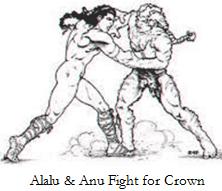 Anu fights Alalu