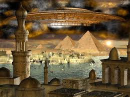 Great Pyramid w saucer
