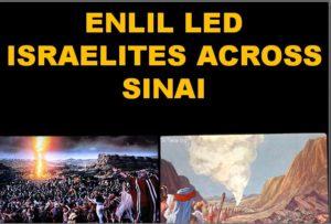Enlil guides Israelites across desert