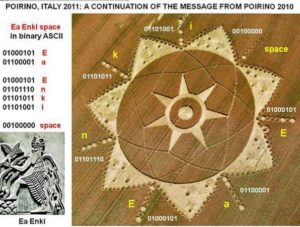 Enki crop circle Italy