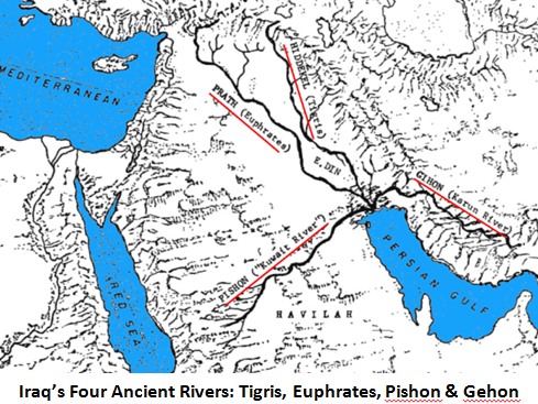 4 Rivers of Iraq captioned above